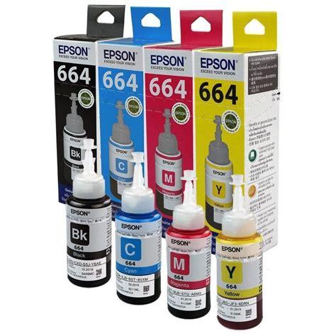 Tinta Printer Epson 664 Blue Original paquete 4 colores tinta original epson 664 gr soluciones