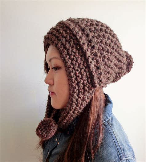 pompom hat with ear flaps s accessories kljt