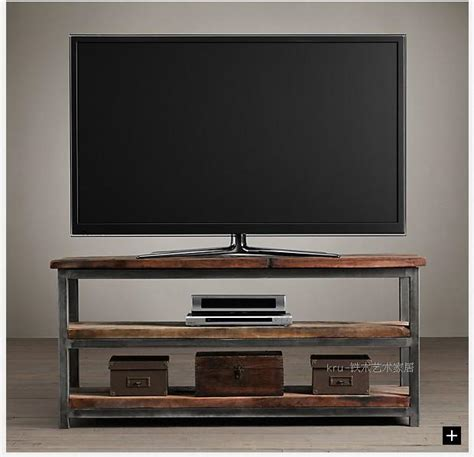 american iron old wrought iron wood tv cabinet living room industrial loft american country style wrought iron loft