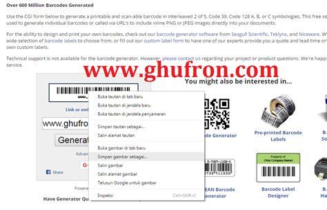 cara membuat barcode generator ghufron com catatan ang ghufron tentang berbagai hal