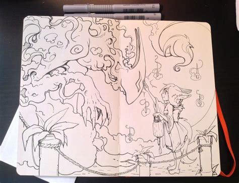 sketchbook moleskine stunning mixed media artworks in a moleskine sketchbook
