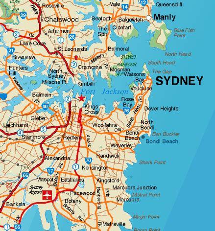 map of australia with sydney free sydney maps