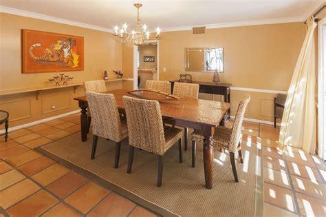 beautiful dining room design with unique flooring