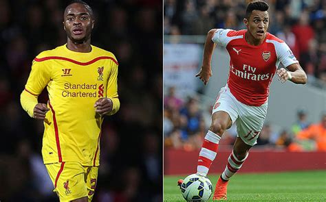 alexis sanchez raheem sterling arsenal liverpool combined xi raheem sterling alongside