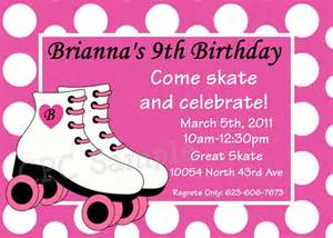9 best images of roller skating birthday invitations printable roller skating