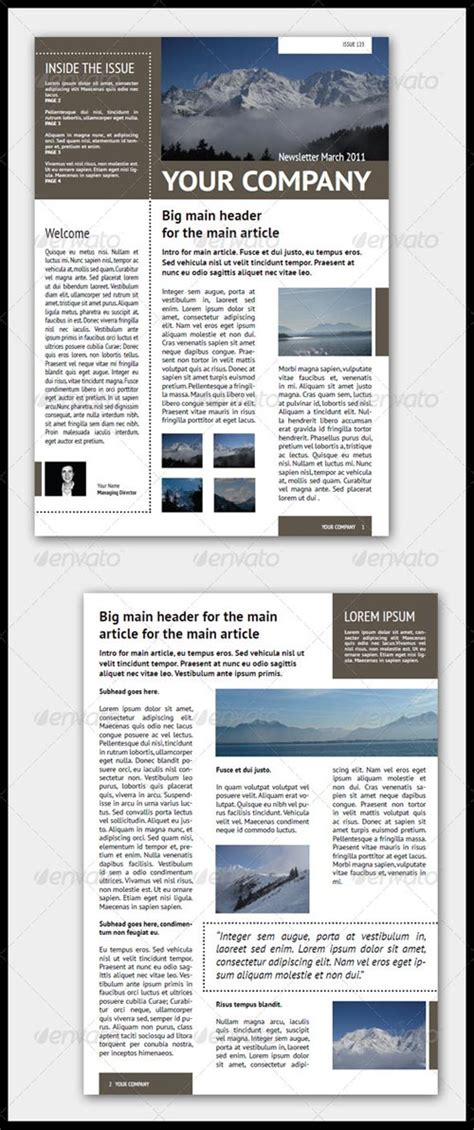 indesign newsletter templates newsletter templates free indesign