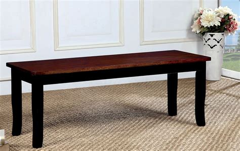 cherry bench dover black and cherry bench cm3326bc bn furniture of america