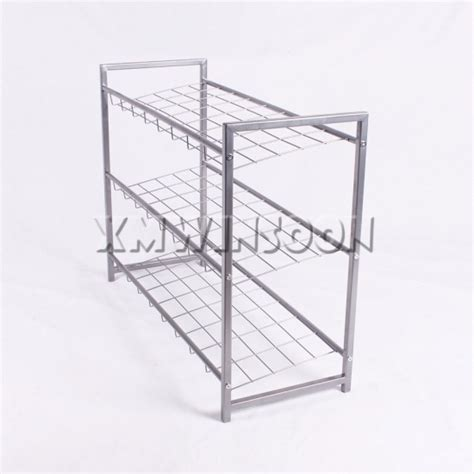 wire shoe rack cheap small size metal 3 tier wire shoe rack ae4010