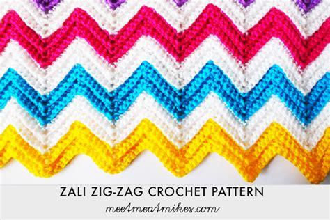 Zali Zig Zag Crochet Pattern | zali zig zag crochet chevron blanket tutorial knitting