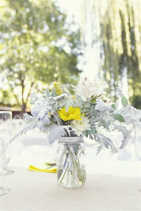 Yellow and Grey Fall Wedding in California