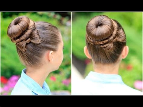How To Create A Sculpturedweave Hair Style | how to create a bow bun prom hairstyles youtube