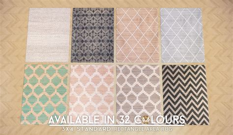jute rug 4 my sims 4 updated patterned jute rugs in 32 styles