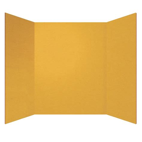 Paper Folding Board - 30 ct tri fold yellow project board shop geddes