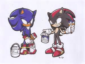 shadow color sonic and shadow change their s color by 415sonic on deviantart