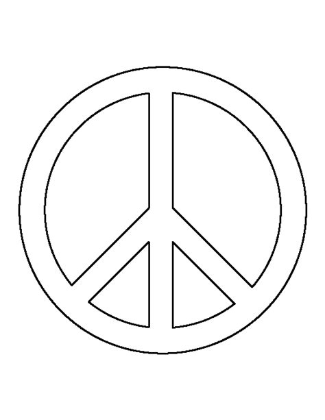 Peace Sign Pattern Use The Printable Outline For Crafts Peace Sign Template