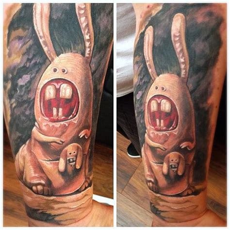 arm fantasy rabbit tattoo by reinkarnation tattoos