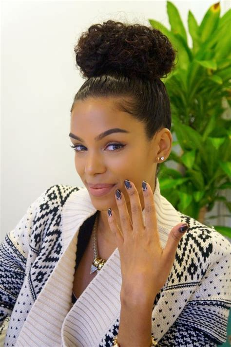 curly hair in high bun with bang 20 best images about high bun on pinterest high bun
