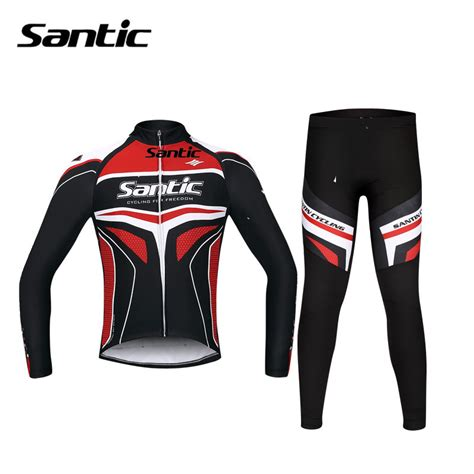 cycling suit jacket santic spring long sleeve cycling jersey set road bike
