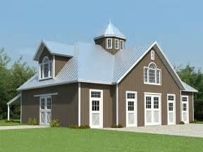 Barns Plans by Horse Barn Plans Horse Barn Outbuilding Plan 006b 0003