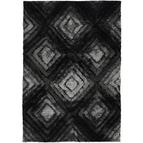 chandra sterling charcoal 5 ft x 7 ft chandra flemish grey black charcoal 5 ft x 7 ft 6 in indoor area rug fle51101 576 the home