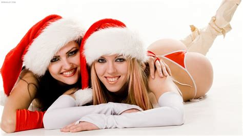 wallpaper christmas babe photo trick hot and sexy christmas hd wallpapers