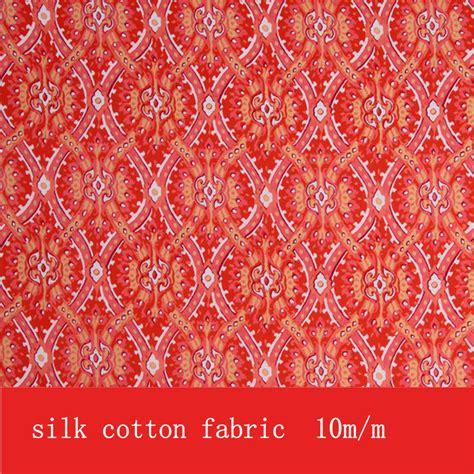 aliexpress fabric aliexpress com buy s95 red printed silk cotton fabric