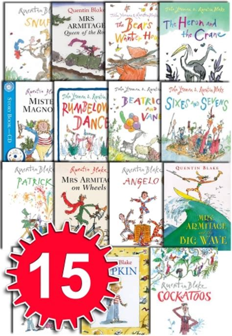 libro quentin blake collection 10 quentin blake collection red fox picture 15 books set cockatoos more u5 quentinblake 15bks