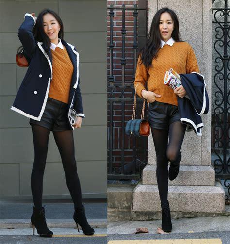 Becky Korean Bag becky baek fringe navy jacket chocolate color knit