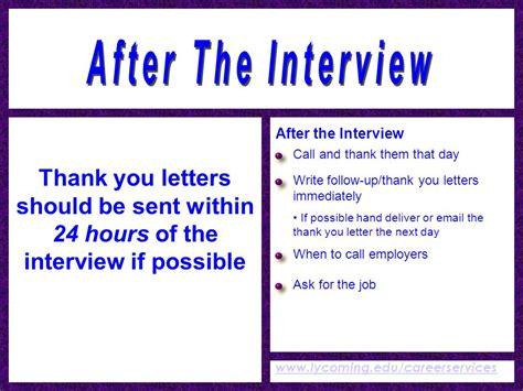 thank you letter after call center winning interviews career services 3rd floor wertz
