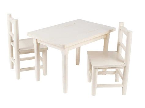table chaises enfants salon enfant 1 table 2 chaises en pin blanchi