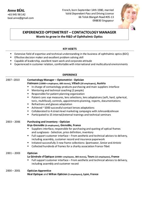 Optician Resume by Optician Sle Cover Letter Ghostwritingrates Web Fc2