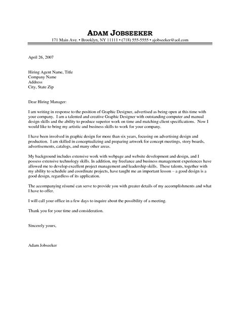 letter sle application letter for graphic designer