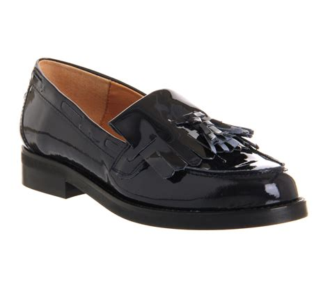 navy leather loafers womens womens office extravaganza loafer navy patent leather
