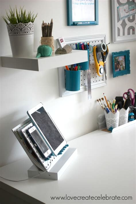 diy peg board desk organizer home office decor home