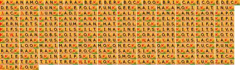 scrabble mot w liste des 146 mots de 4 lettres avec k