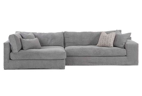 Bradley Sectional Sofa Bradley Linen Sectional Gray Sectionals From One