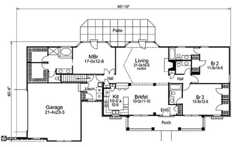 country living floor plans open country living 57046ha architectural designs