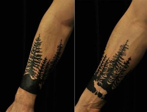 tree sleeve tattoo designs pine tree tattoos