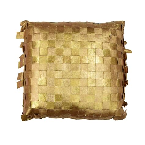 Leather Pillows Sale by Gold Woven Leather Pillow Taxidermy Mounts For Sale And