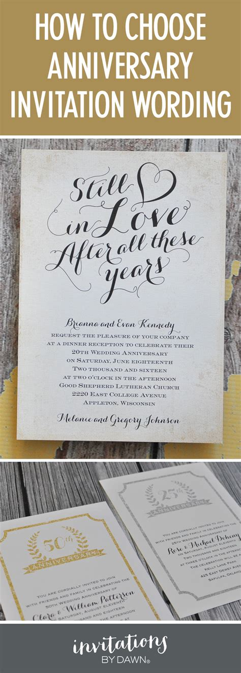 Finding The Right Wedding Anniversary Invitation Wording Wedding Anniversary Invitation Templates