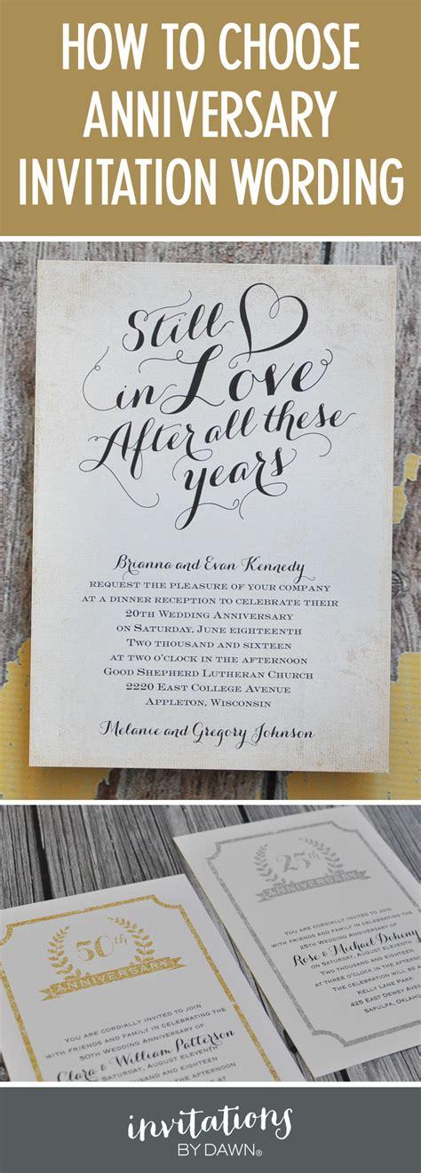 25th Wedding Anniversary Reception Ideas by Finding The Right Wedding Anniversary Invitation Wording