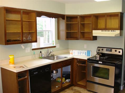 Stained Kitchen Cabinets Before And After Staining Oak Cabinets Before And After