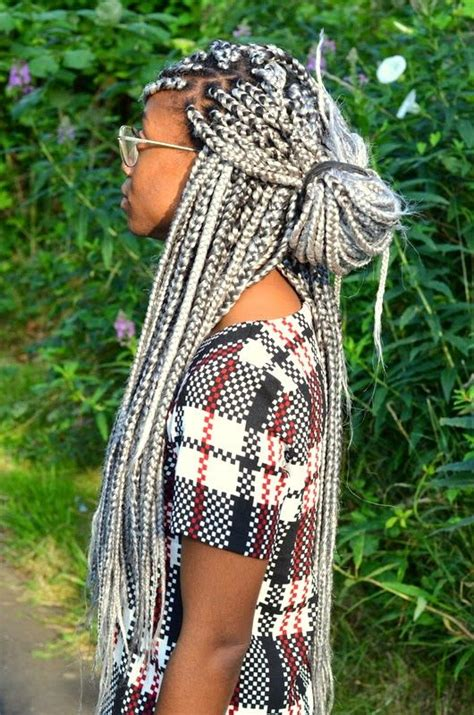 grey braids trend watch grey braids mira la belle