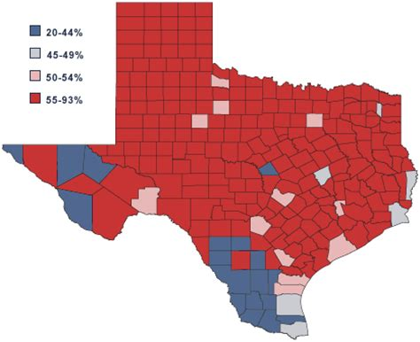 political texas map texas politics the 2000 election texas style