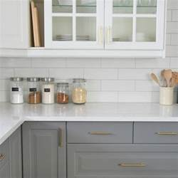 Subway Backsplash Tiles Kitchen Installing A Subway Tile Backsplash In Our Kitchen The