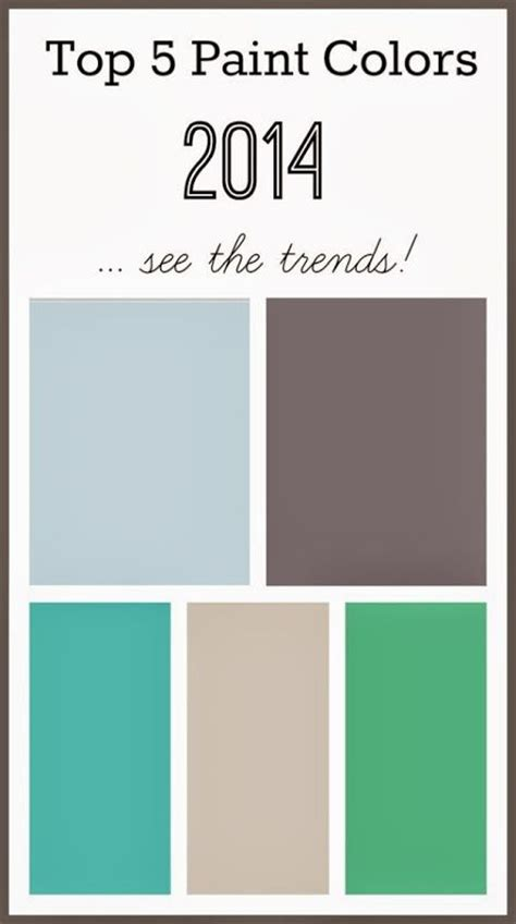 top 5 paint colors 2014 paint colors front rooms and teal blue