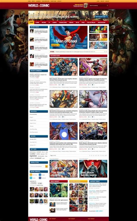 blogger templates for web comics webcomic wordpress theme comicworld wordpress themes
