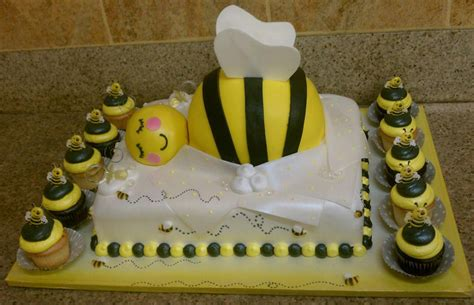 Bumble Bee Themed Baby Shower by Bumble Bee Baby Shower Cake