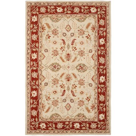 Karolus Area Rug Safavieh Chelsea Ivory Rust 3 Ft 9 In X 5 Ft 9 In Area Rug Hk719a 4 The Home Depot
