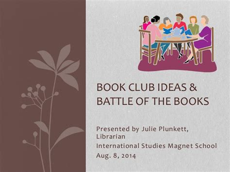 reading club themes book club ideas and battle of the books